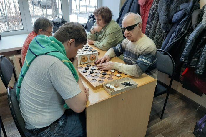 Итоги Чемпионата области по русским шашкам среди лиц с ограниченными возможностями по зрению.